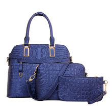 New models PU leather fashion lady Hand bags set 3pcs shoulder women handbag set