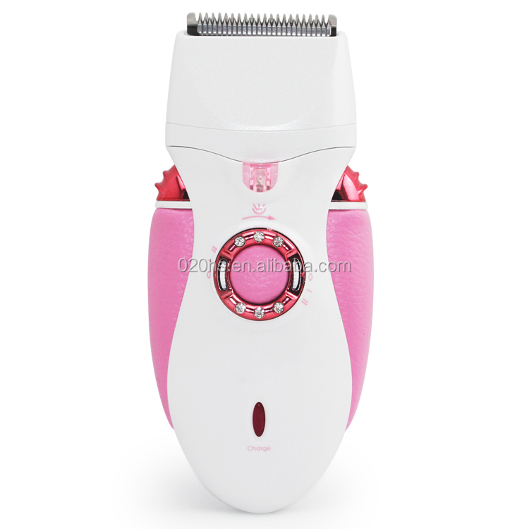 Rechargeable lady shaver epilator / electric hair clipper 3 in 1 set