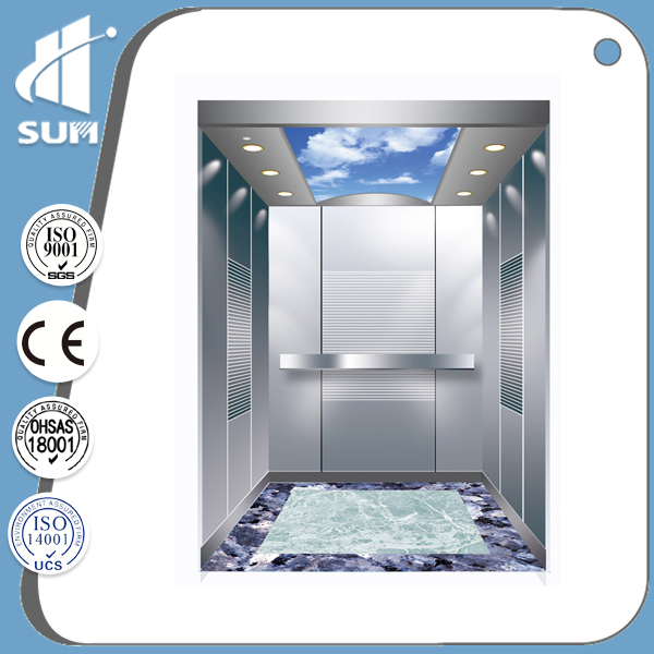CE approved speed 1.0m/s passenger elevator dimensions