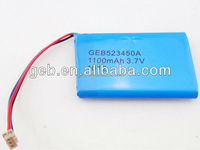 523450 3.7V900mAh polymer li ion battery