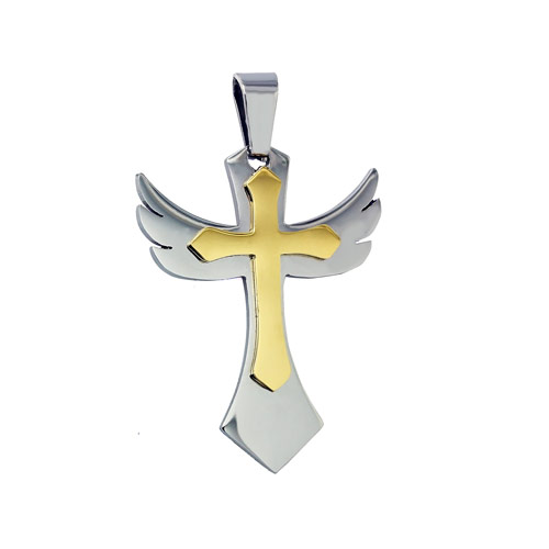 stainless steel gold pendants design for men(P2-B0020)