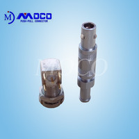 Coaxial male and female straight plug connector