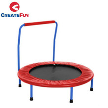 "CreateFun 36"" Rebounder Foldable Elastic Rubber Band Portable Kids Folding 36 Inch Mini Trampoline with Handle or Handrial"