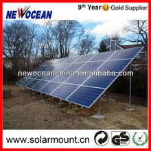 concrete footing 50KW ground solar panels mounting