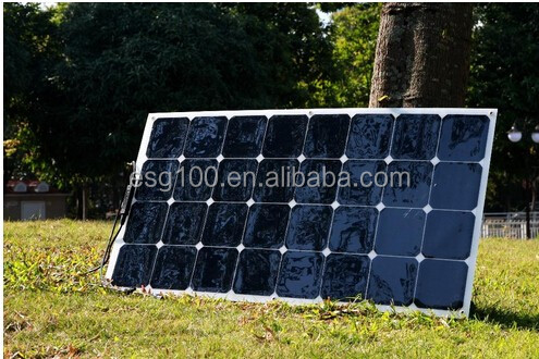 OEM full certified china supplier high efficiency flexible solar panels 100w 120w For Home Use