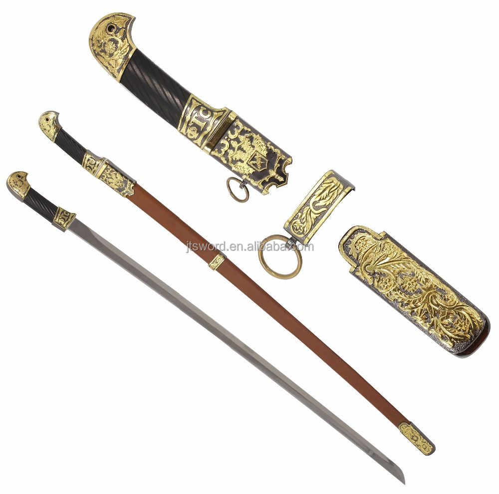 brown decorative shasqua military elegant gold sword