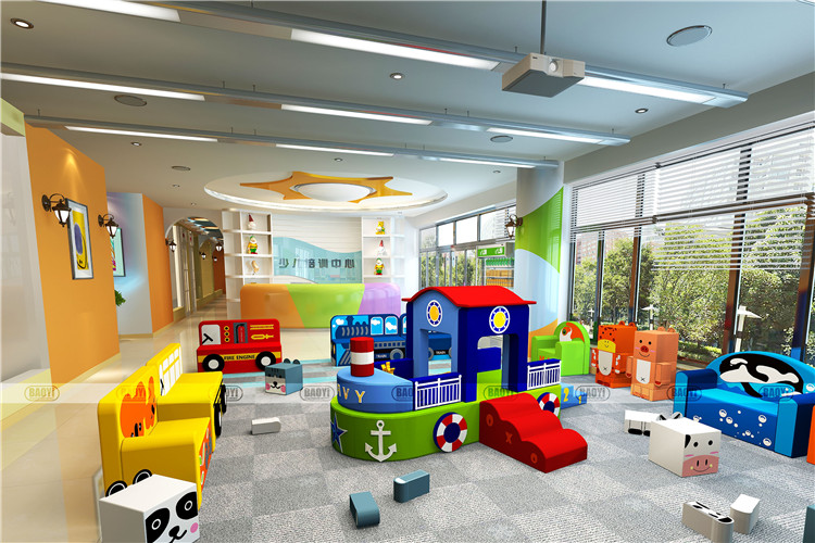 Factory Supply excellent quality children plastic indoor playground for sale