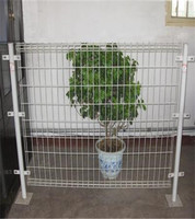 Low Price Pvc Coated 1x1 Wire Mesh Fencing/Double Loop Wire Fence