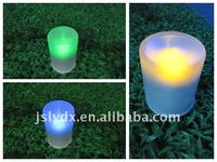 LED Solar Glass Candle garden lawn Light lamp