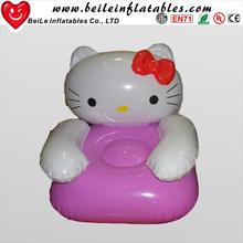New style cheap kids cat animal model inflatable single sofa