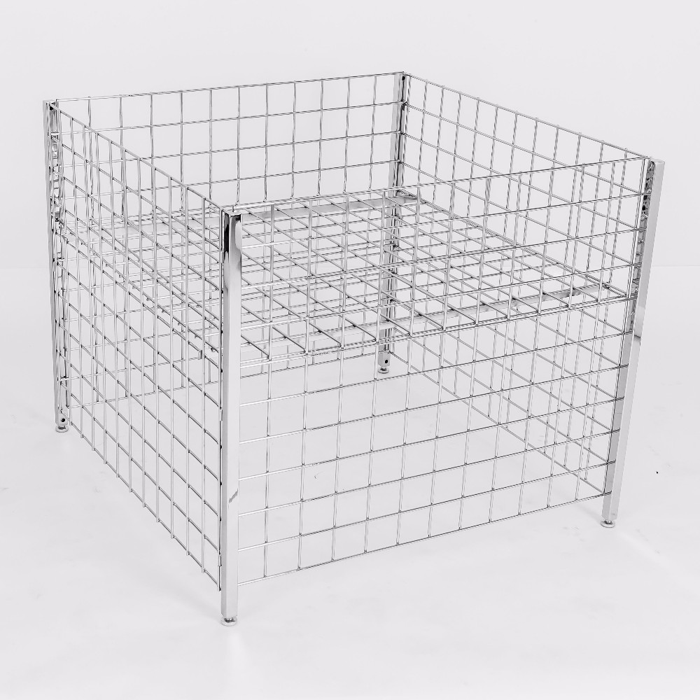 Metal wire basket dump bin for metal wire basket in store design