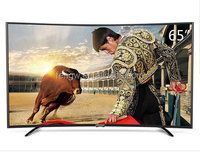 Hot selling in Youtube 65inch 16:9 Black /white color LCD TV orinigal imported mainboard