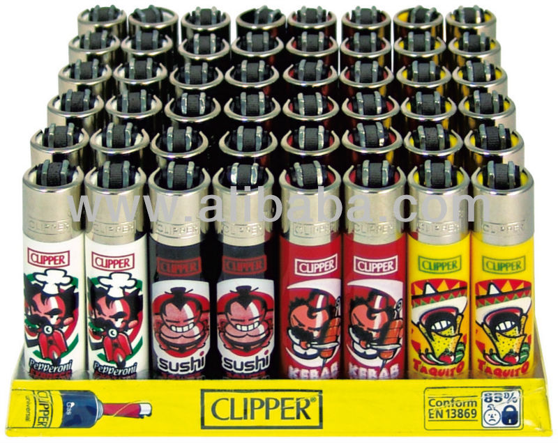 Clipper fantasy original lighters display 48 pieces