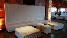 High Back White event Lounge Furniture with Ottoman
