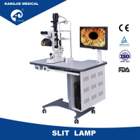 KJ5DII digital slit lamp with image processing system,slit lamp with TUV CE, ISO 13485, big aperture 14mm