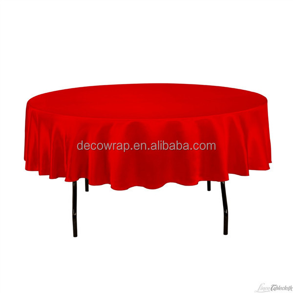 satin party table cloth