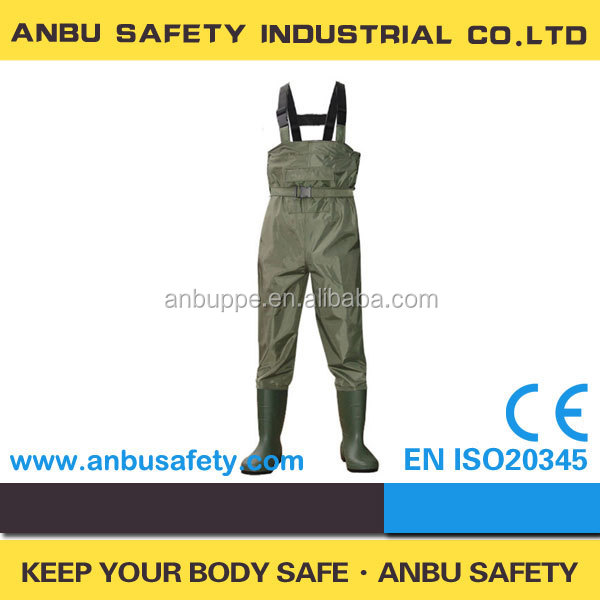 Waterproof nylon pvc fishing chest wader