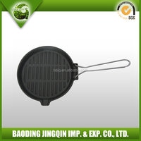2016 hot sales cast iron frying pan with a handle