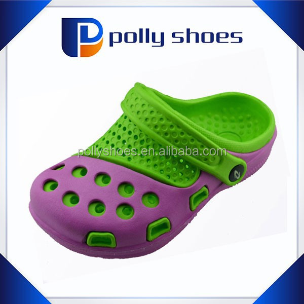 Hot green insole pink strap breathable sandal garden clog baby eva shoes