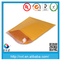 Yellow custom padded envelope