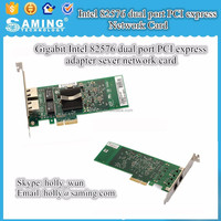 10/100/1000mbps Intel 82576 dual port PCIe network adapter for sever application