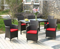 outdoor furniture garden sets PE rattan wicker standard dining sets outdoor SCTC-028A