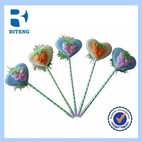 Novelty flower plastic ball pen for promotion