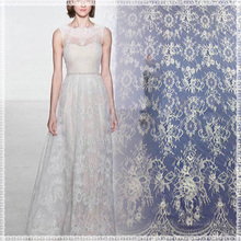 Unique design fashion white french net lace african tulle lace fabrics with high quality