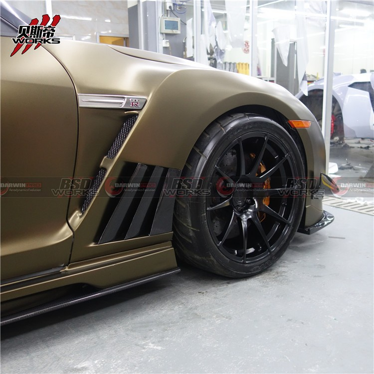 09-15 Ni*ssan R35 -GTR Carbon Fiber Vrs Style Front Fenders (NO WIDE BODY)