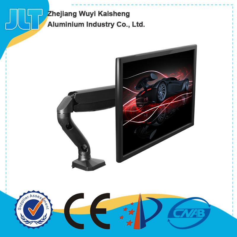 High quality single LCD monitor desktop mount folding computer monitor stand