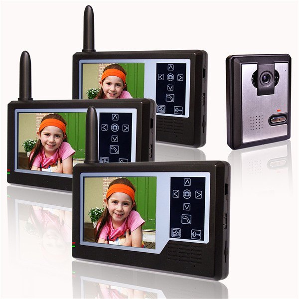 2.4GHz Digital wireless video intercom with 3.5 Inch TFT Screen