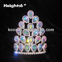 6 inch Height AB Diamond Queen Crowns and Tiaras