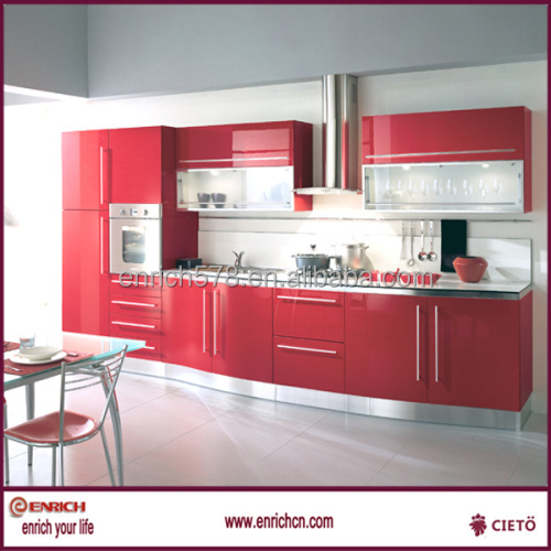 Red Lacquer Kitchen Cabinets   Striking Kitchens With - Lacquer kitchen cabinets