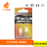 12 months warranty new car led bulb 5050 5smd white t10 led difference led t5 t10 t10 24v led