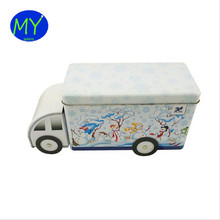 Reusable stationery box creative cookies tin box truck shape for children
