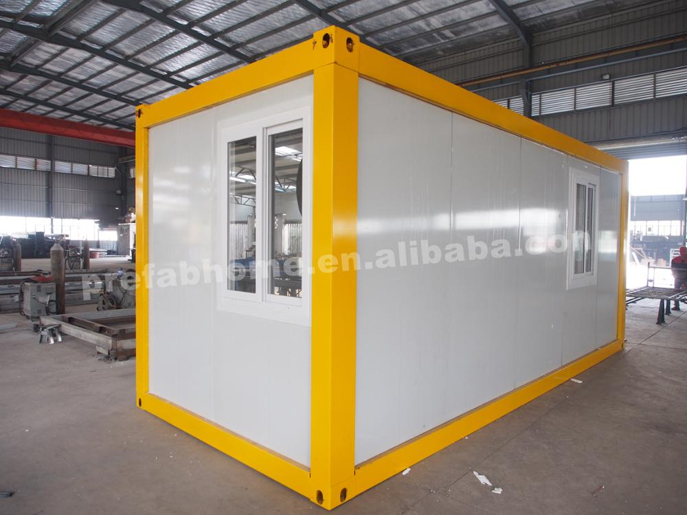Portable fireproof sandwich panel flatpacking bunk container homes for sale