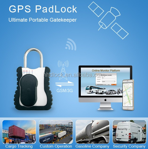 GPS/GSM/RFID Padlock for cargo Shipping Container Tracking