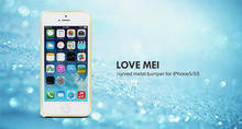 LOVE MEI Curved Metal Bumper for iPhone 5 Case,5S Case Ultra thin Metal Skidproof Case Cover Perfect Protector