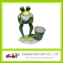 hot sale garden flowe pots yoga frog decoration