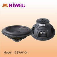 12 inch pressed steel frame big foam surround thick bass subwoofer car