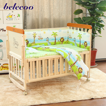 belecoo cradle bed baby cot design multifunction baby crib bed for baby 0-3 years