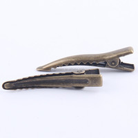 2016 fashion metal beak single prong alligator clips for hair