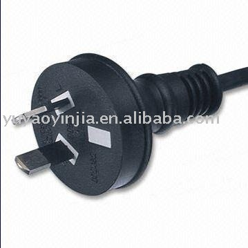Australia SAA power cord, two pins plug with cable,