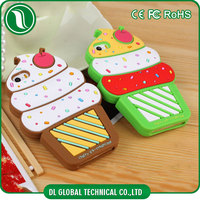 Korean sweet style cute silicone phone case for samsung galaxy s3 back cover of ice cream design for s3 cover