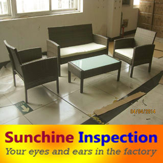 rattan garden furniture chairs desks quality inspection third party inspection company inspection services in china