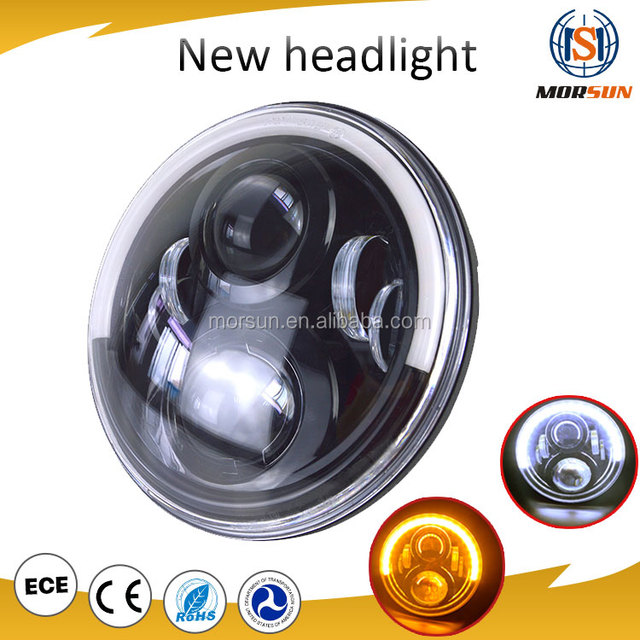 7 Inch DOT Approved Round Head Light Car LED Projector Headlight with Halo ring