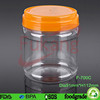 700cc round clear PET plastic candy nut toy tubs jars with lid cheap wholesale