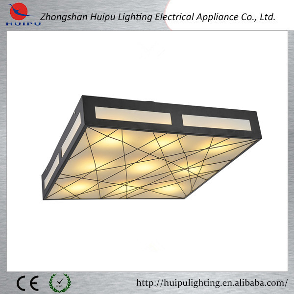 Modern led ceiling light with a parchment shade