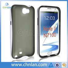 2014 new arrival dual color PC TPU smart cover case for galaxy note n7000