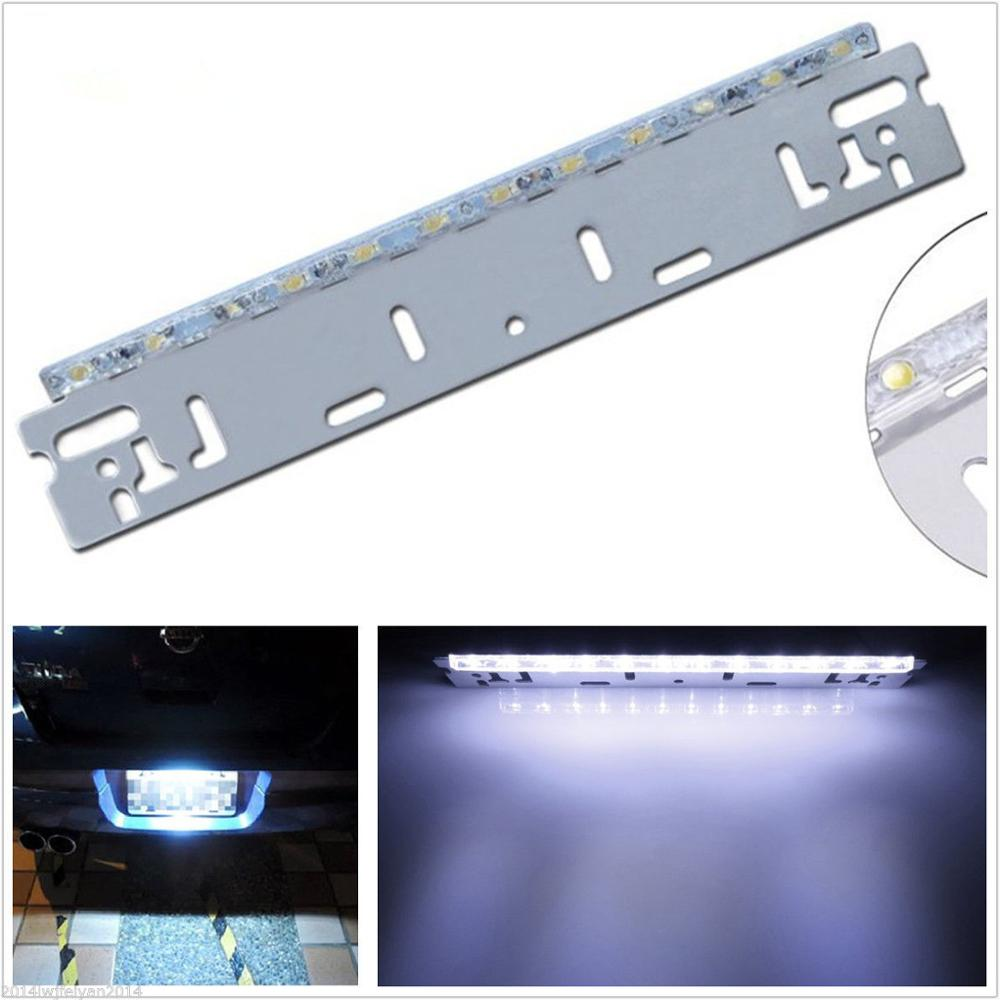 12V enon White 12-SMD LED Bolt-On License Plate Lamp Autos Backup Reverse Light